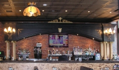 The back bar for the Post Street Alehouse.