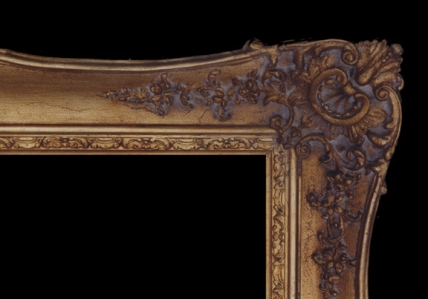 AFTER gilding: Picture frame
