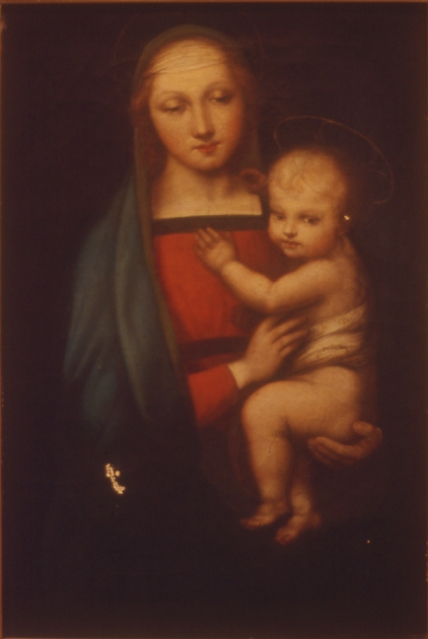 BEFORE: Painting of Madonna & Child