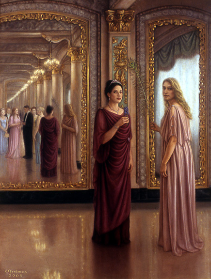 """Reflections."" oil on linen 40X30"" 2005 owned by the Davenport Hotel"